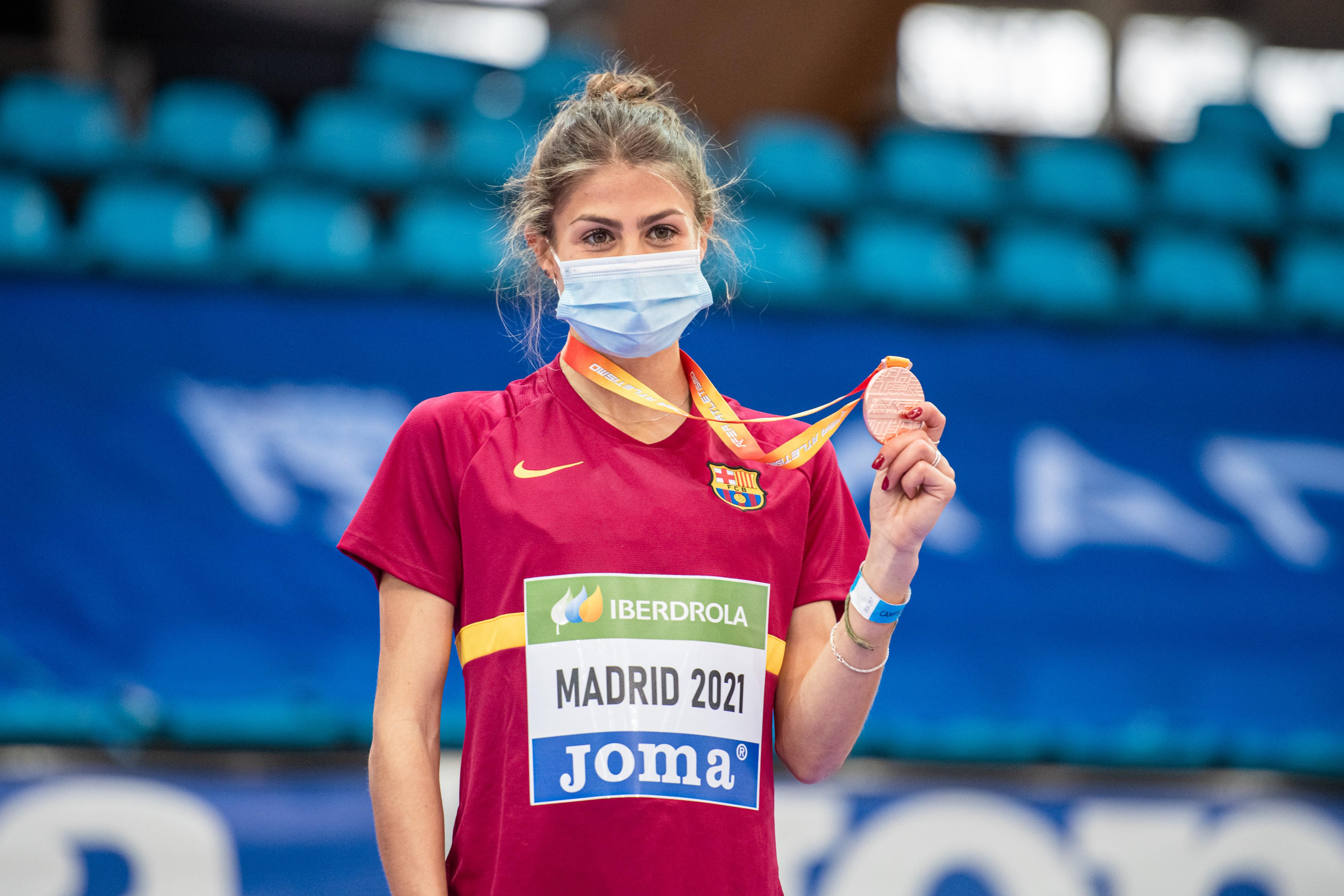 Águeda Muñoz Marqués, Sub-23 del Club de Atletismo F.C. Barcelona, bronce de España absoluto