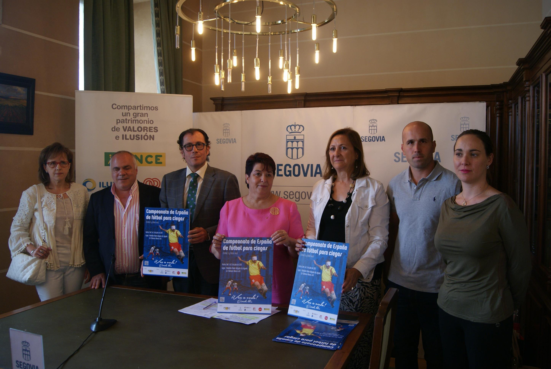 Los mejores futbolistas ciegos y con discapacidad visual se citan en Segovia