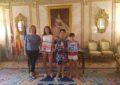 Recepción en el Ayuntamiento de Segovia a dos jóvenes deportistas segovianas