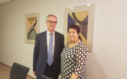 La alcaldesa, Clara Luquero, se reúne con el Ministro de Cultura,  José Guirau