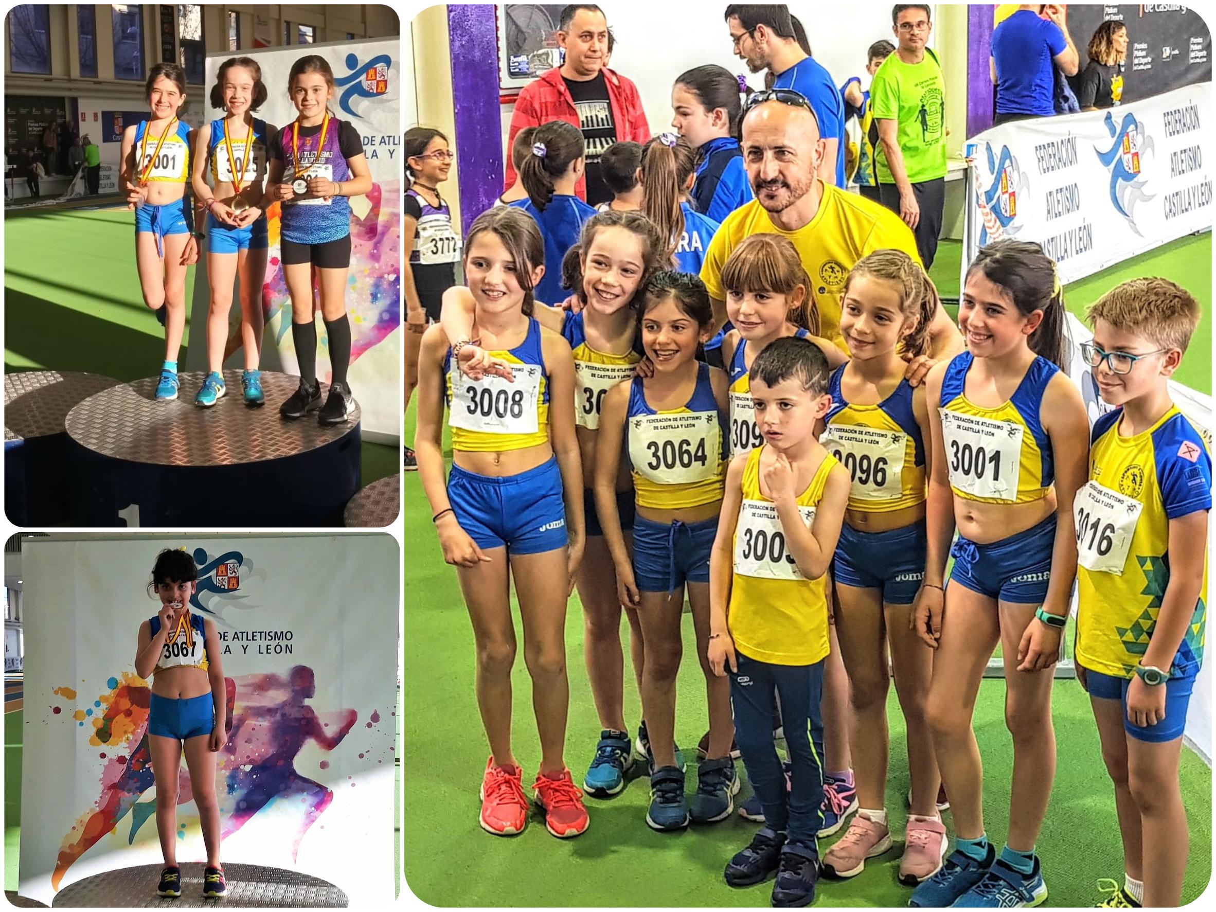 Dos oros y una plata para las atletas del CD Sporting Segovia en los Campeonatos Autonómicos de Combinados Sub8-Sub10-Sub12