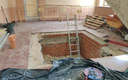 El Ayuntamiento de Segovia acomete obras de accesibilidad en el pabellón Pedro Delgado