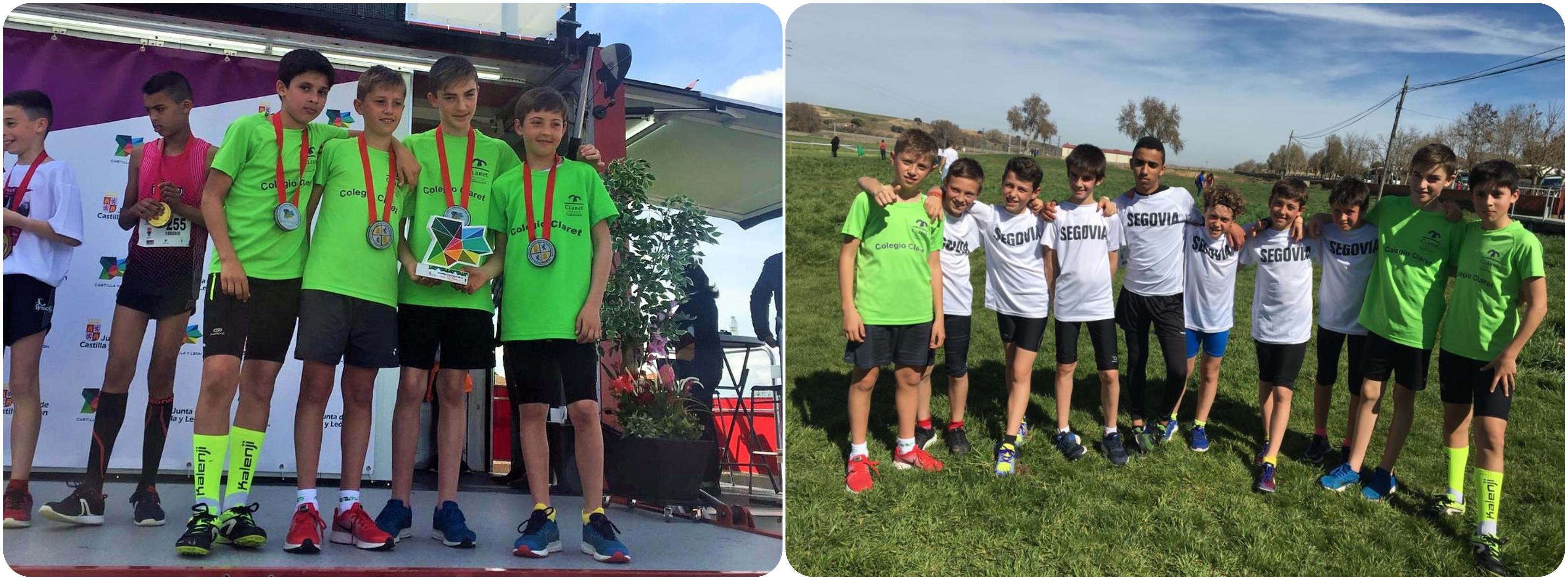 Los atletas del Sporting en tres podios del Cross Regional en edad escolar