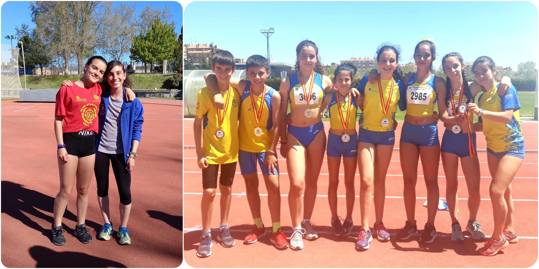 Dos mínimas nacionales y ocho medallas autonómicas de los atletas del Sporting Segovia