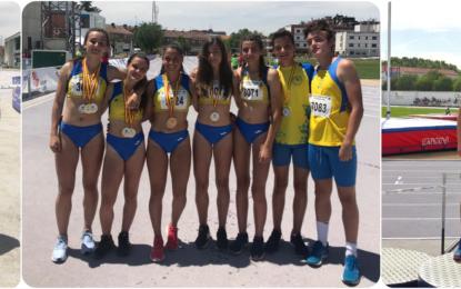 Nueve medallas autonómicas y tres participaciones nacionales de atletas del C.D. Sporting
