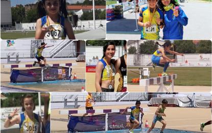Los atletas del Sporting sumaron cuatro medallas en los autonómicos de combinadas y obstáculos