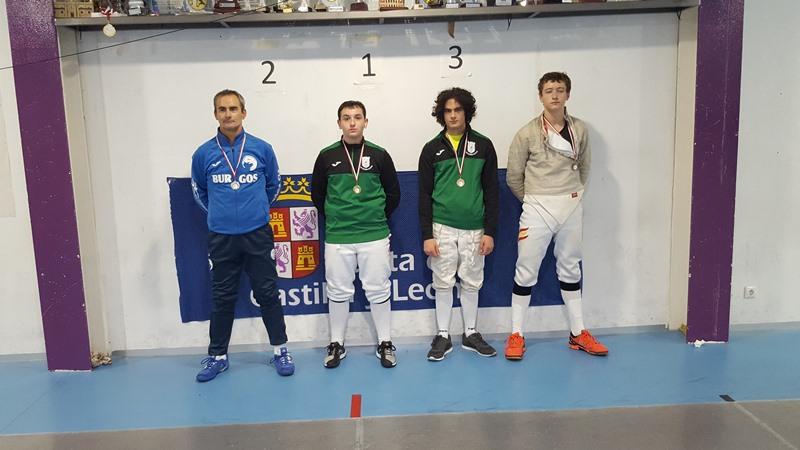 Tres oros y tres bronces para el Club de Esgrima Segovia