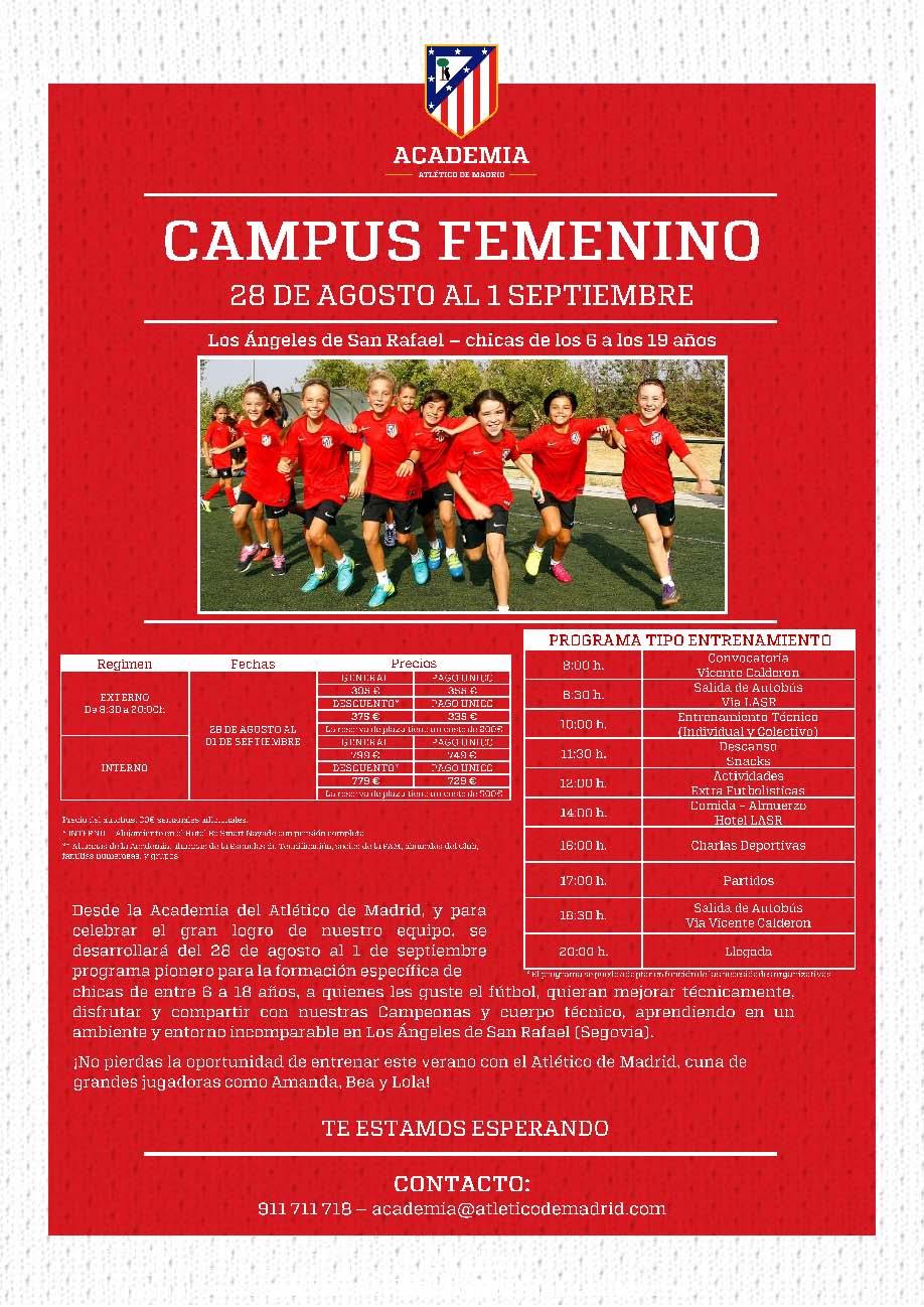 Academia Atlético de Madrid: Campus Femenino