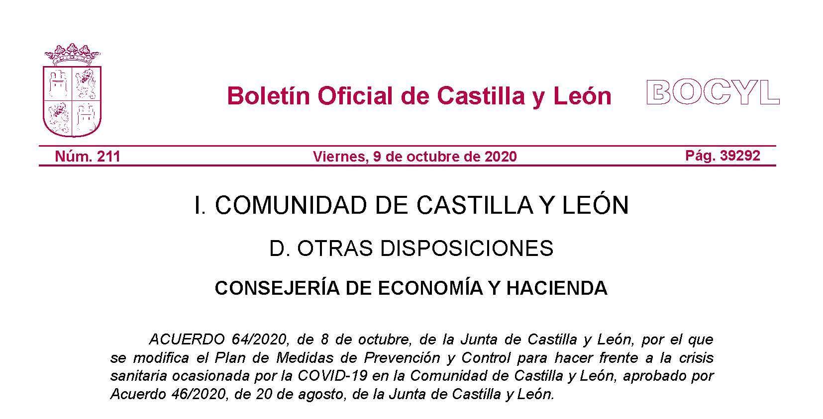 La Junta de Castilla y León da a conocer la Guía definitiva para competiciones oficiales y entrenamientos
