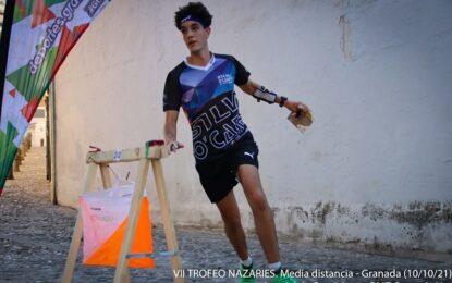 El segoviano Adrián Rubio, del equipo Maristas Segovia, medalla de bronce en la carrera de media distancia