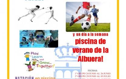 """Campamento de Inglés, Esgrima, Natación y Fútbol en la Piscina Climatizada """"José Carlos Casado"""""""