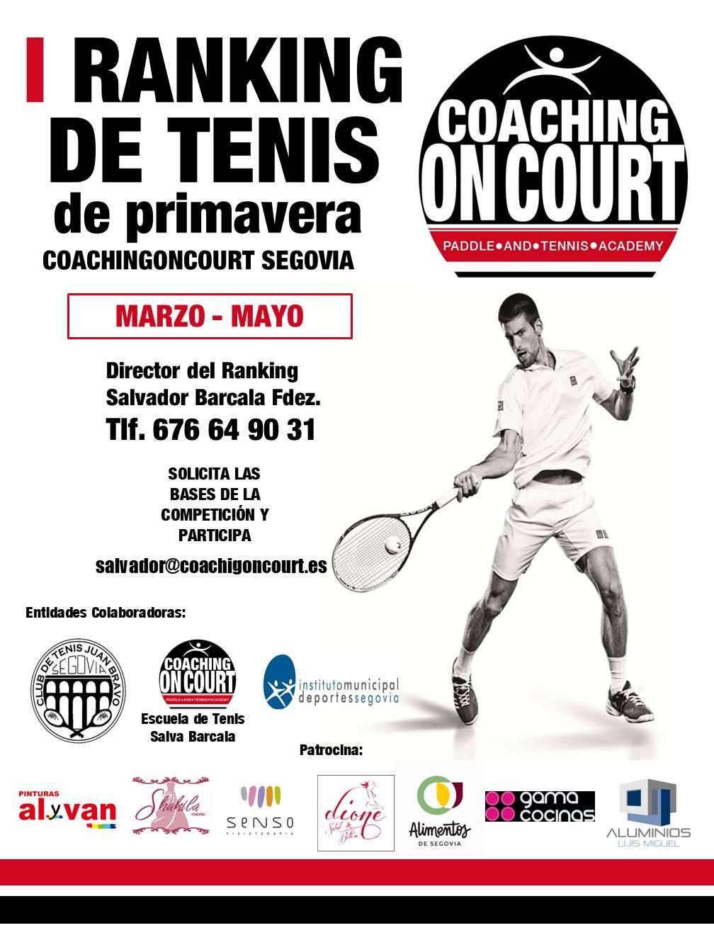 I Ránking de Tenis de Primavera – Coaching On Court Segovia