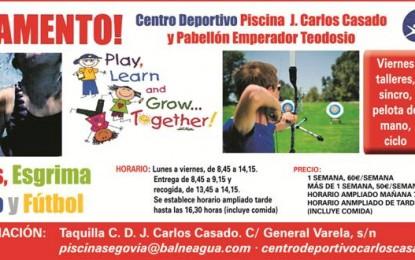 """Piscina Climatizada """"José Carlos Casado"""": Campamento Urbano 2017"""