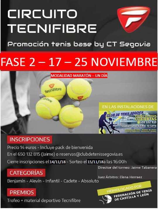 Club de Tenis Segovia: II Torneo Tenis Tecnifibre