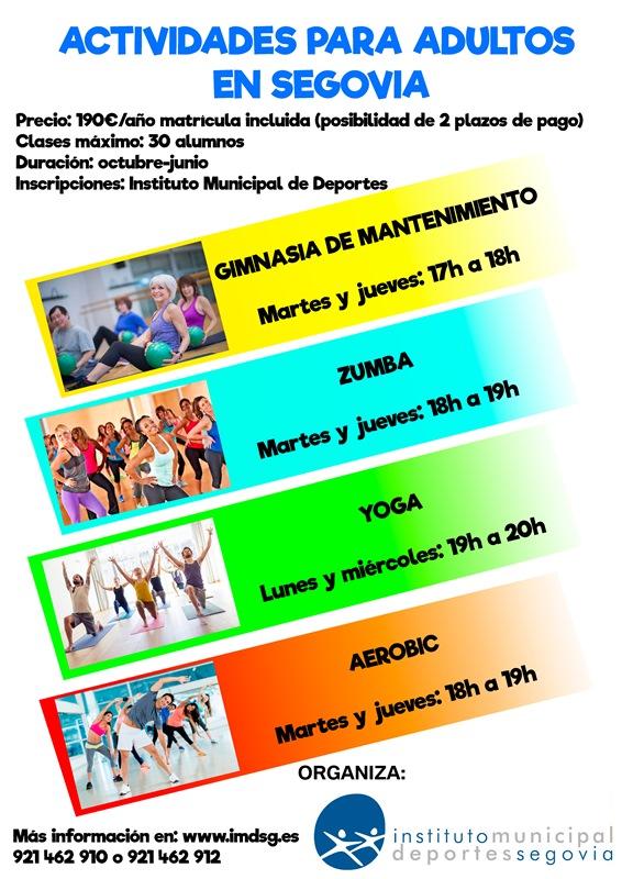 Convocatoria de Actividades para Adultos para el Curso 2017/18