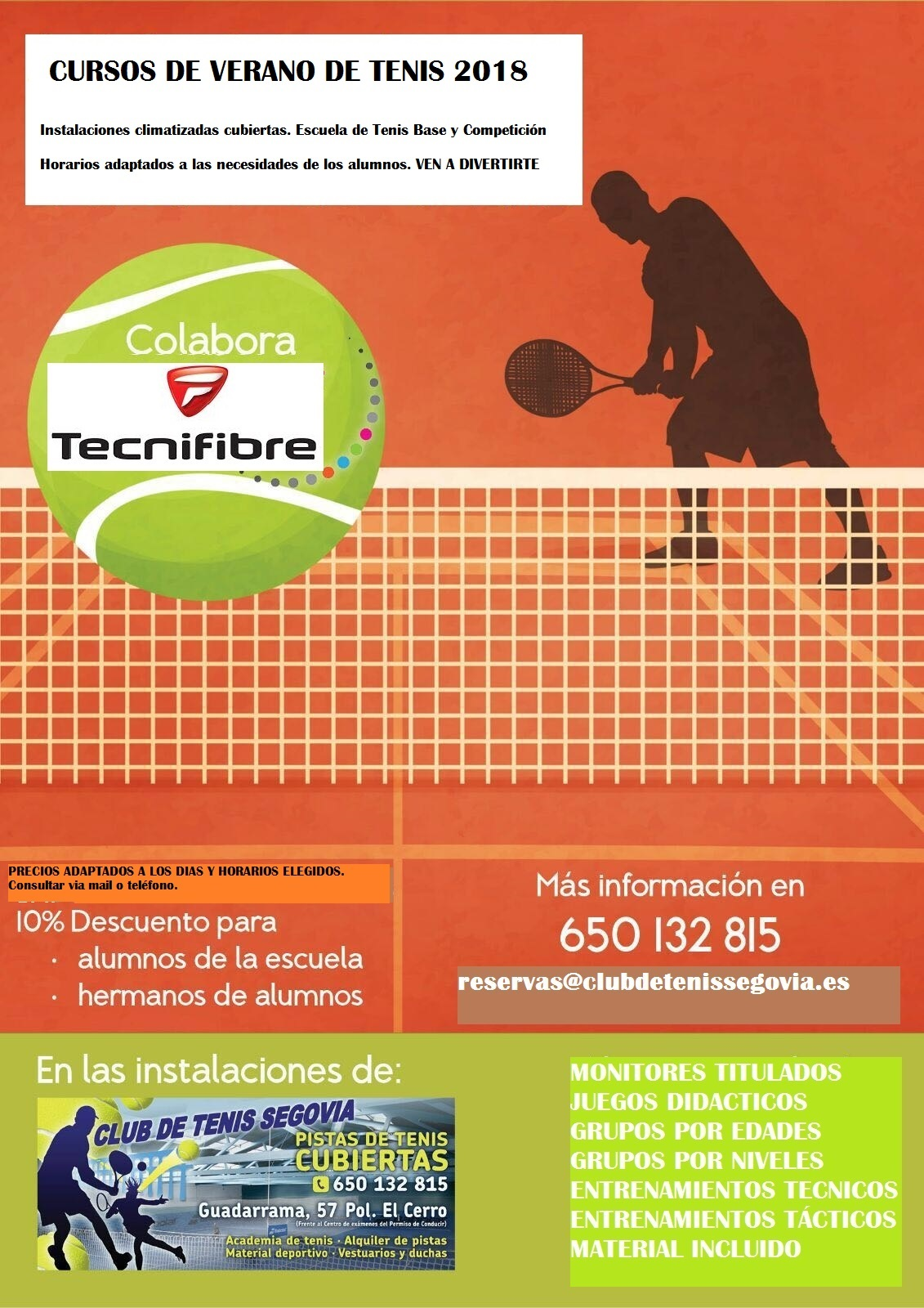 Club Tenis Segovia: Cursos de verano