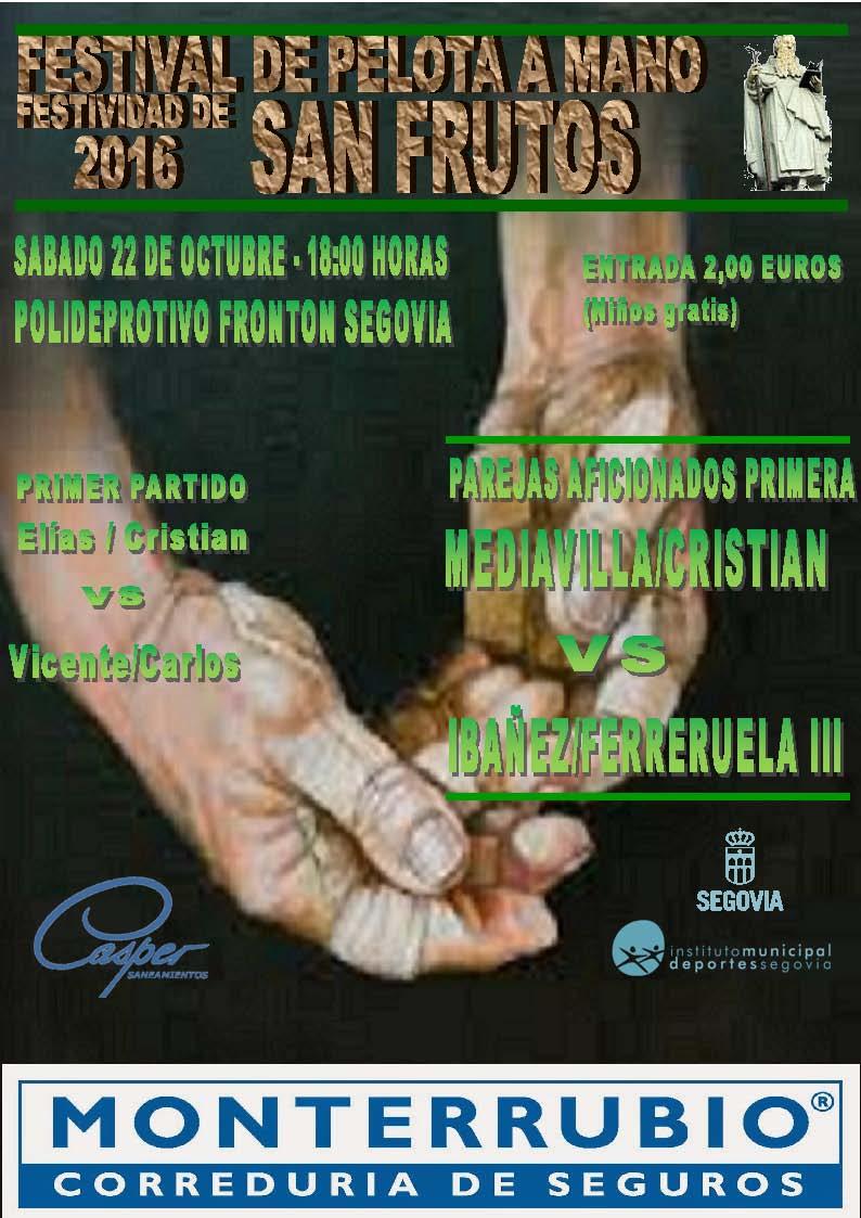 Festival de Pelota a Mano: Fiestas de San Frutos 2016