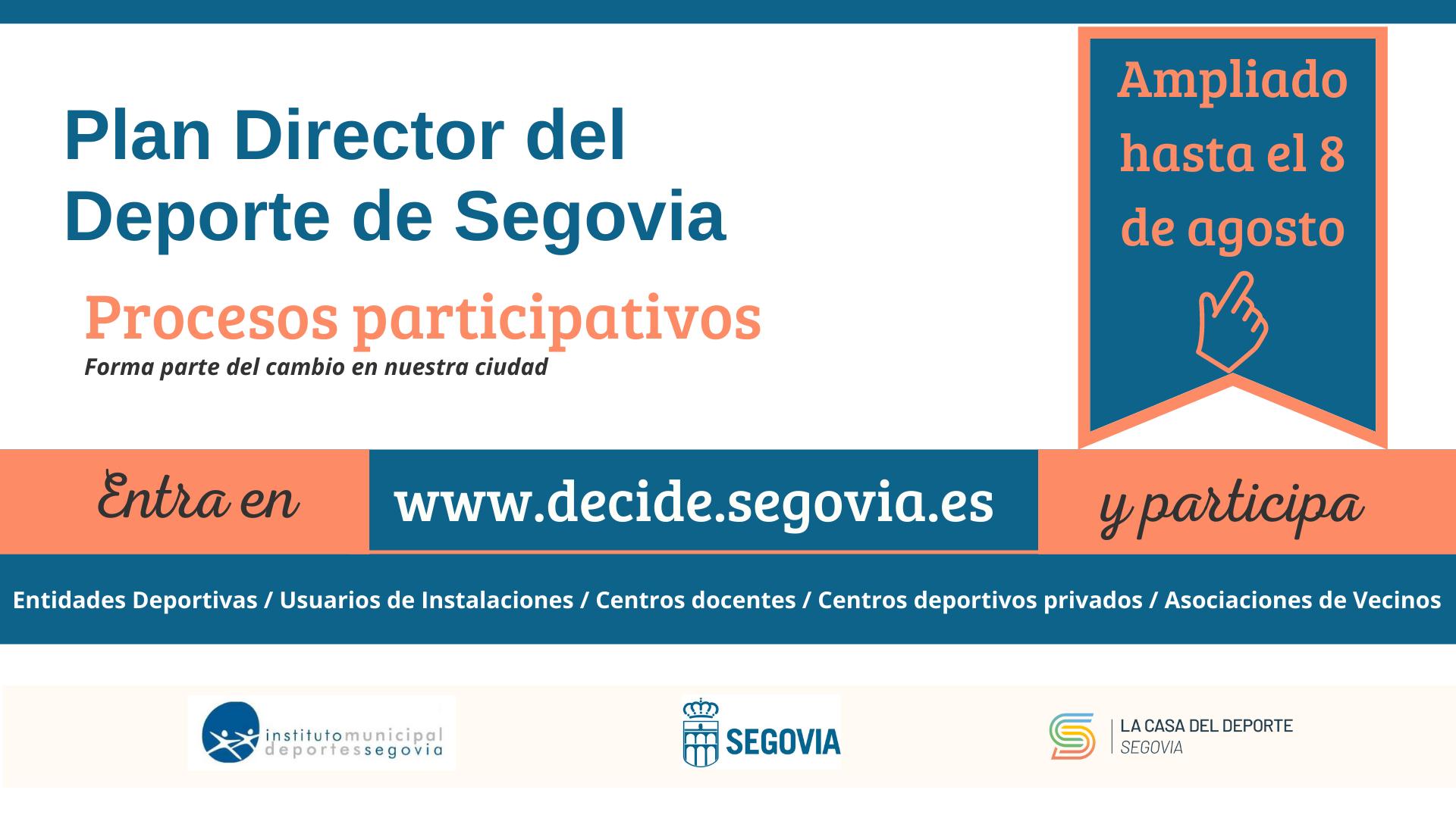 El proceso participativo para la elaboración del Plan Director del Deporte 2022-2030 prolonga su duración hasta el 8 de agosto