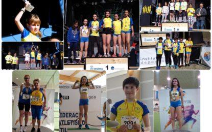 Una mínima Nacional y seis medallas Autonómicas de los atletas del Sporting Segovia