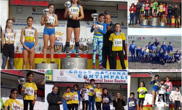 Los atletas del Sporting Segovia arrasaron en el Cross de Cantimpalos
