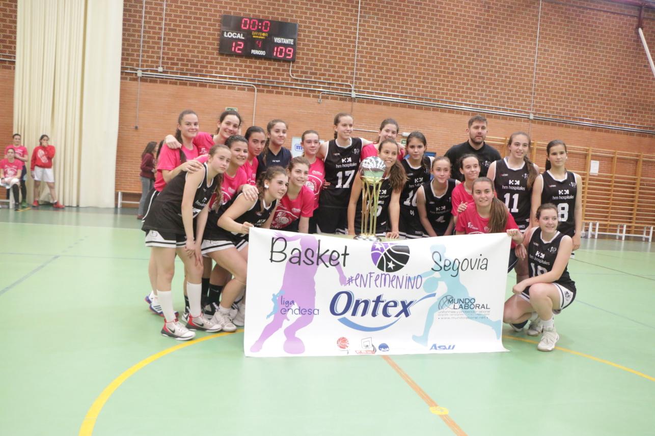 Exito de participación en el Basket #Enfemenino Segovia