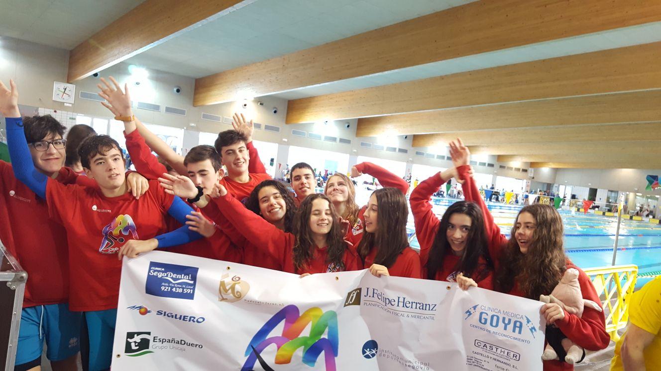 El Club Natación-IMD Segovia obtiene 10 medallas en el Campeonato de Castilla y León Infantil de invierno