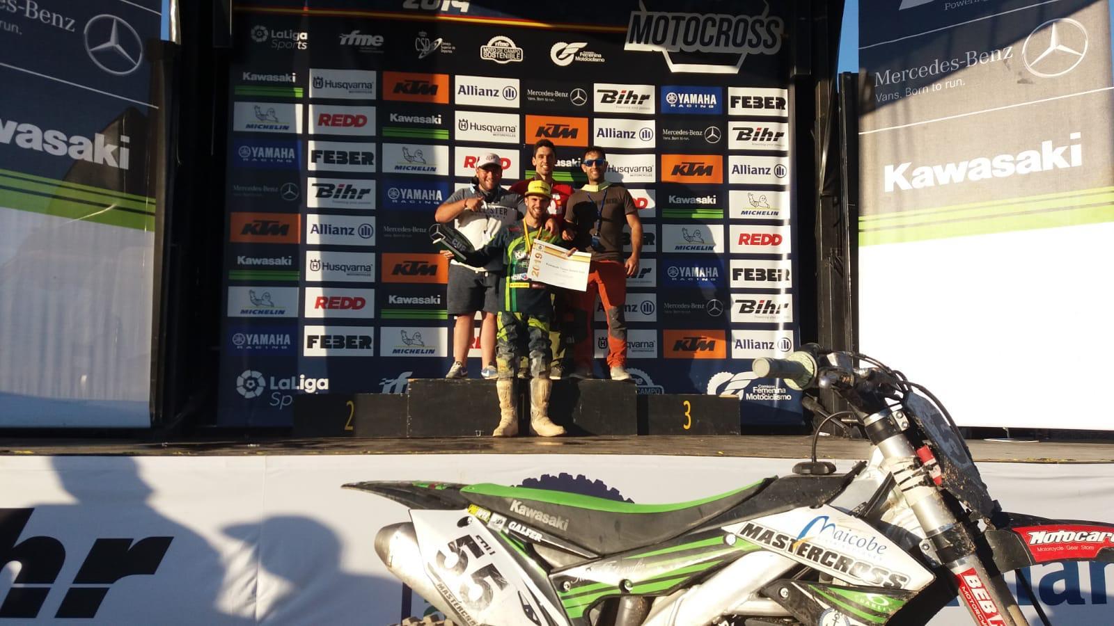 Eduardo Esteban, el  Campeón de la Copa Kawasaki Team Green Cup de Motocross, participará en el Trofeo Ciudad de Segovia de Motocross