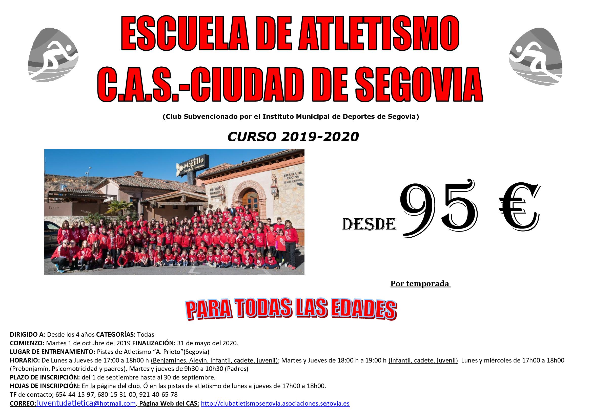 Escuela de Atletismo del CAS-Ciudad de Segovia