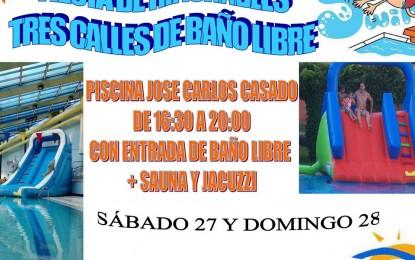 """Fiesta de hinchables en la Piscina cubierta """"José Carlos Casado"""""""