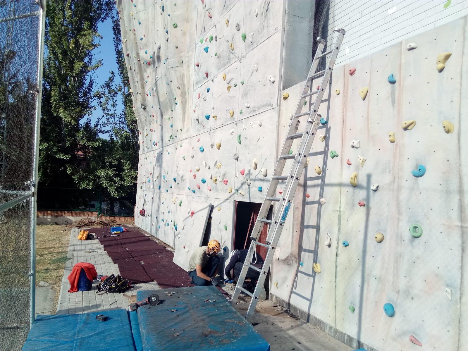 El Instituto Municipal de Deportes acomete reformas en el Rocódromo Municipal