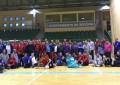 La plantilla del Naturpellet Segovia ofrece un clínic a los miembros de la Escuela de Deporte Adaptado