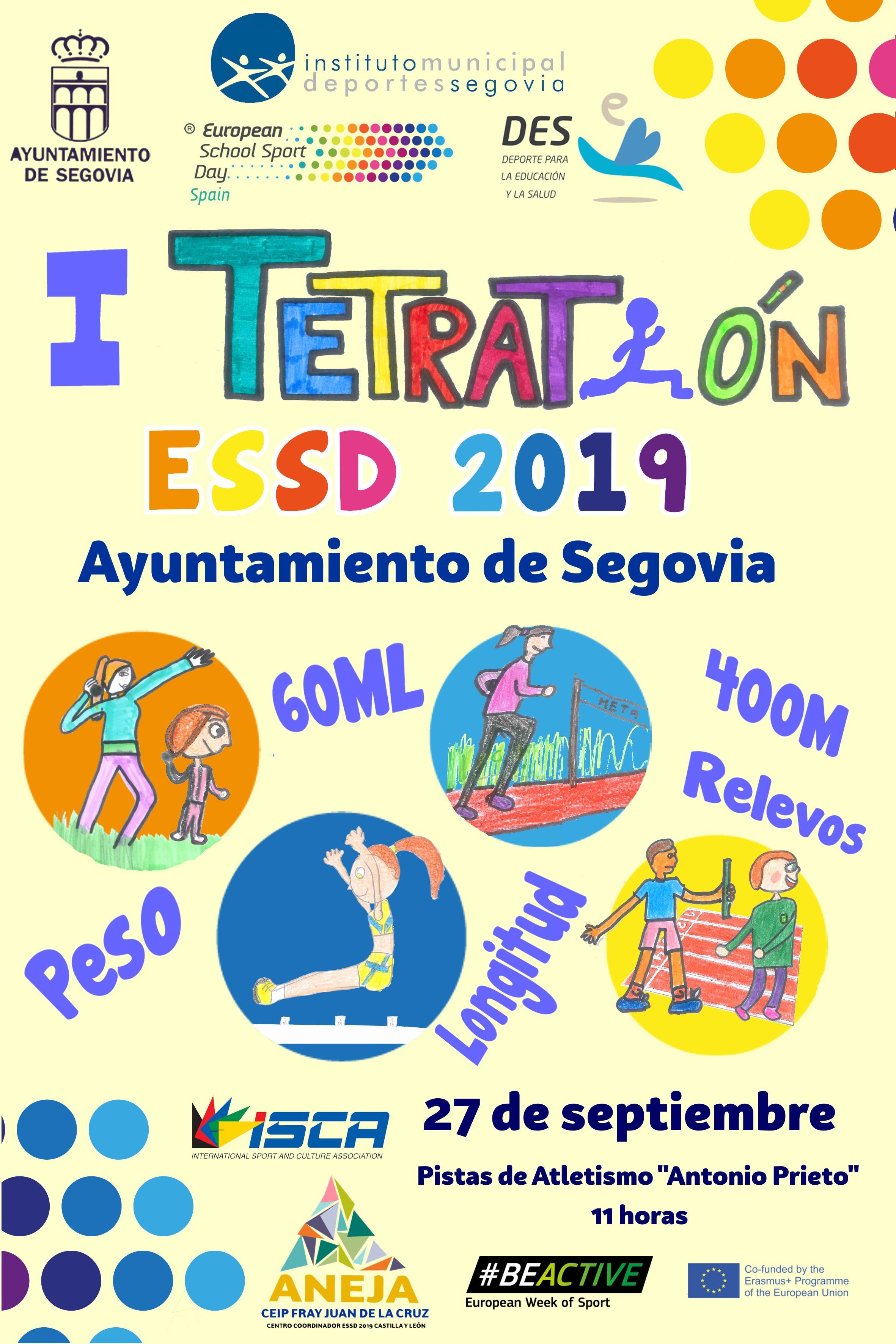 Deporte Escolar: I Tetratlón ESSDC Ayuntamiento de Segovia