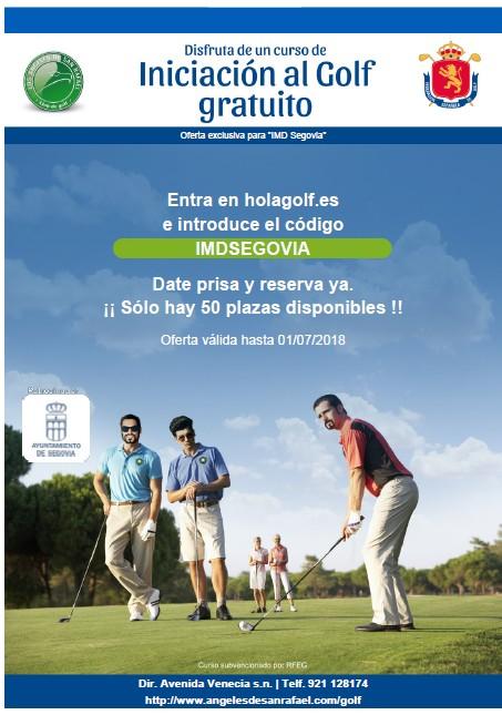 Campaña gratuita de iniciación al golf