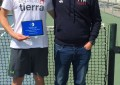 Javier Herrero campeón de Castilla y León Junior de Tenis