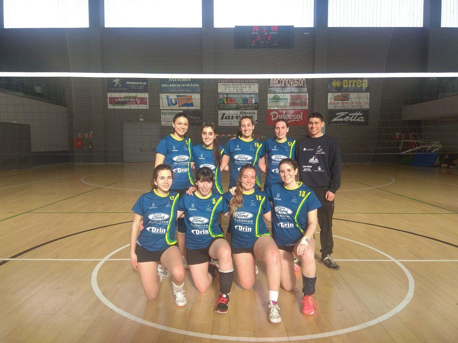 Primera victoria del conjunto femenino del Segovoley