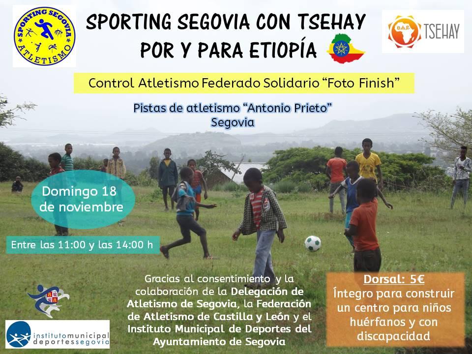 """El Club de Atletismo """"Sporting Segovia"""" propulsor del control solidario con Etopía por medio de la ONG Tsehay"""