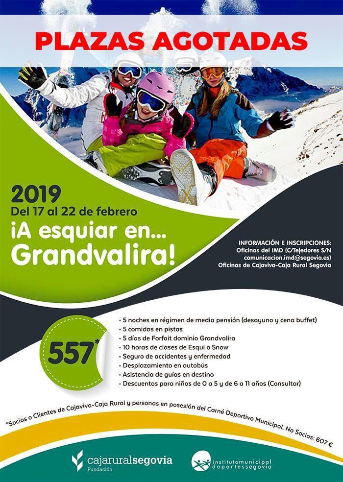 Campaña de Esquí Alpino-Andorra Febrero 2019: Plazas agotadas