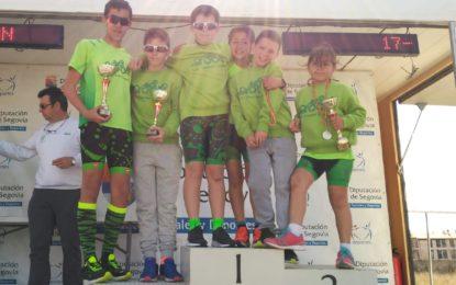 La Escuela del Club Triatlón Lacerta brilla en el Duatlón Escolar de Menores de Palazuelos de Eresma
