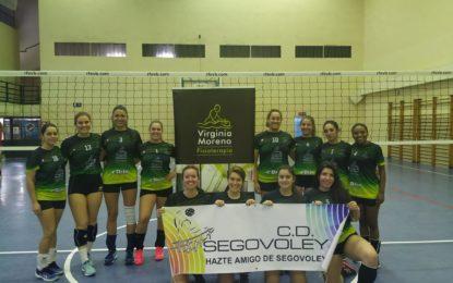 Victoria muy merecida para las chicas del equipo de Segunda División Nacional del Segovoley