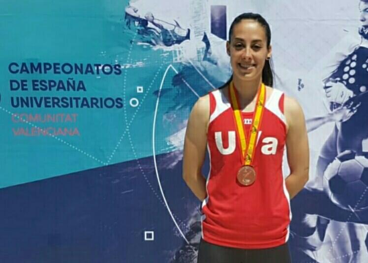 Sara Gómez Álvarez medalla de bronce en el Campeonato de España Universitario de Atletismo
