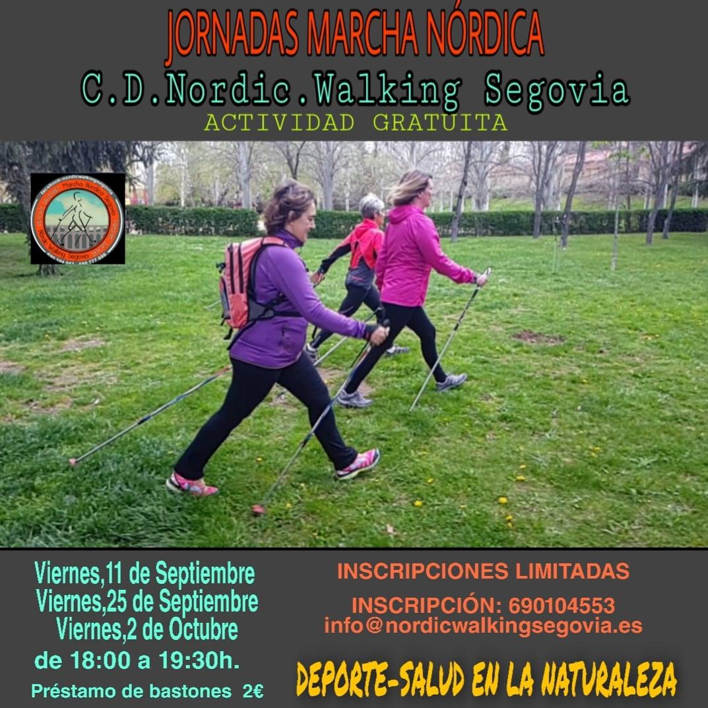 Jornadas gratuitas de Marcha Nórdica en Segovia