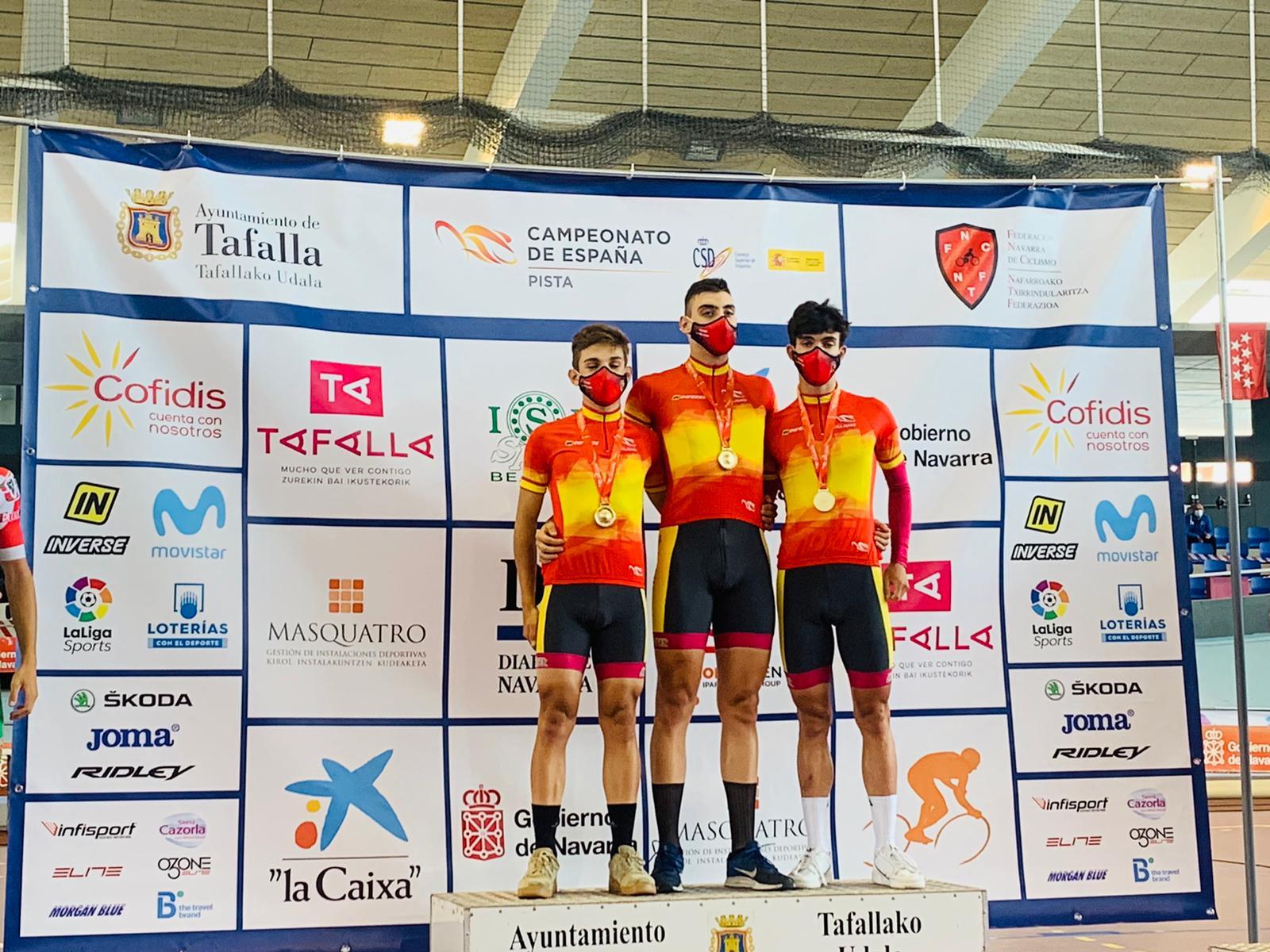 El ciclista segoviano Iván Gómez campeón Regional de pista de Castilla y León