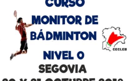 Curso de Monitor de Bádminton Nivel 0