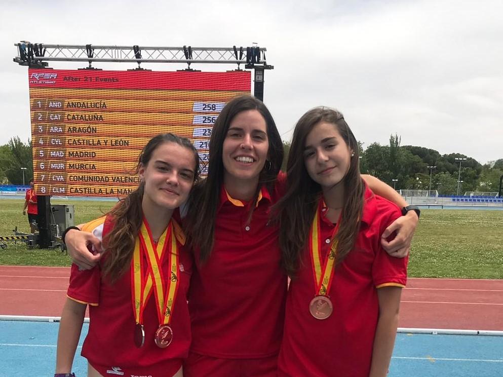 Míriam González y Elisa Vaquerizo medallistas nacionales con la Selección de Castilla y León