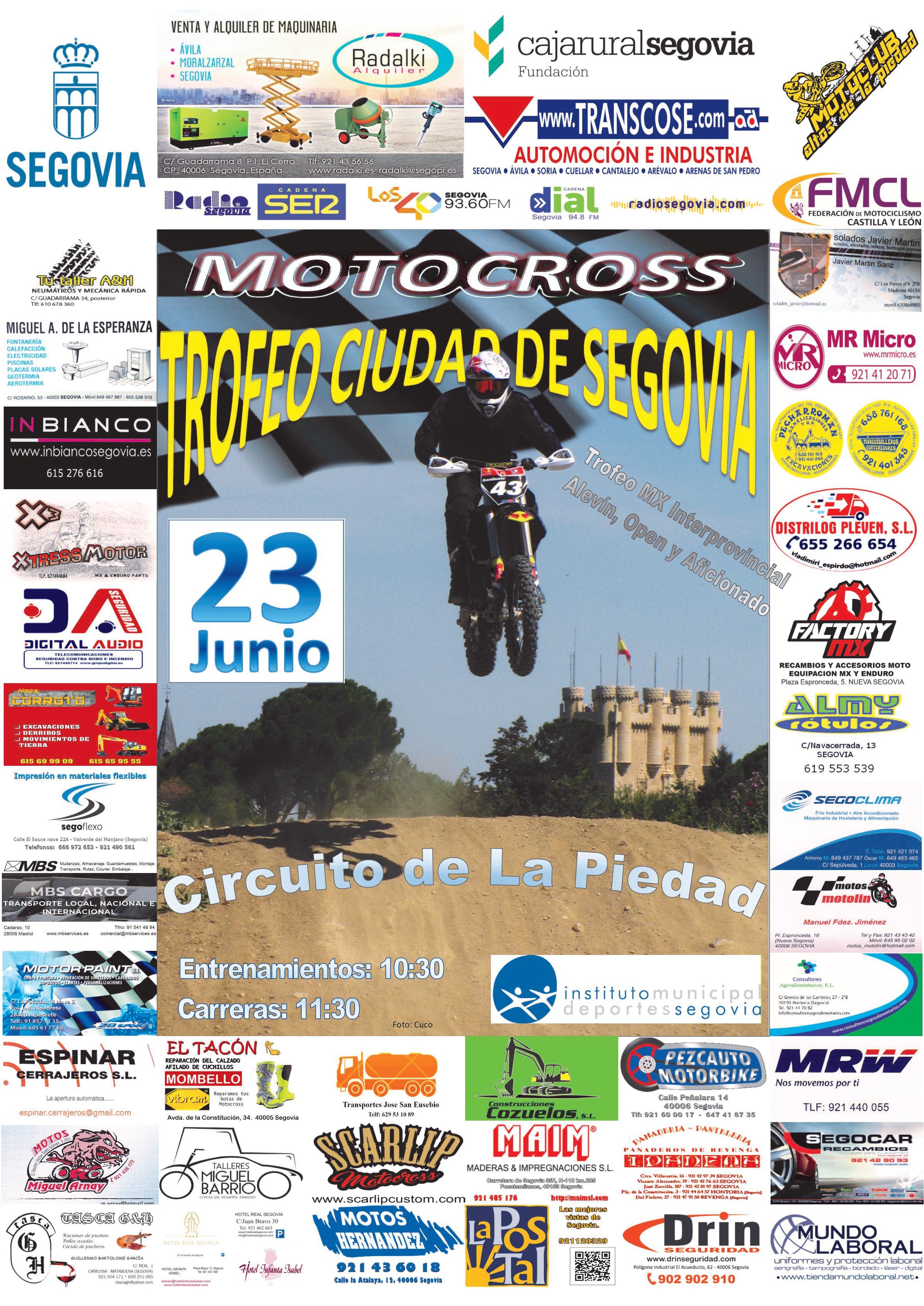 """Ferias y Fiestas 2019: Motocross Trofeo """"Ciudad de Segovia"""""""