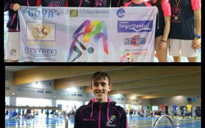 """Seis medallas del equipo de natación IMD """"Ciudad de Segovia"""" en el Open infantil de Castilla y León en Valladolid"""