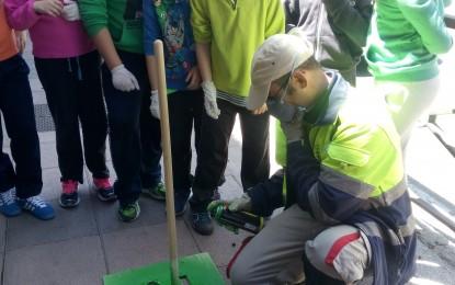 Señalización del Camino Escolar: Alumnos de Primaria del C.E.I.P. Martín Chico