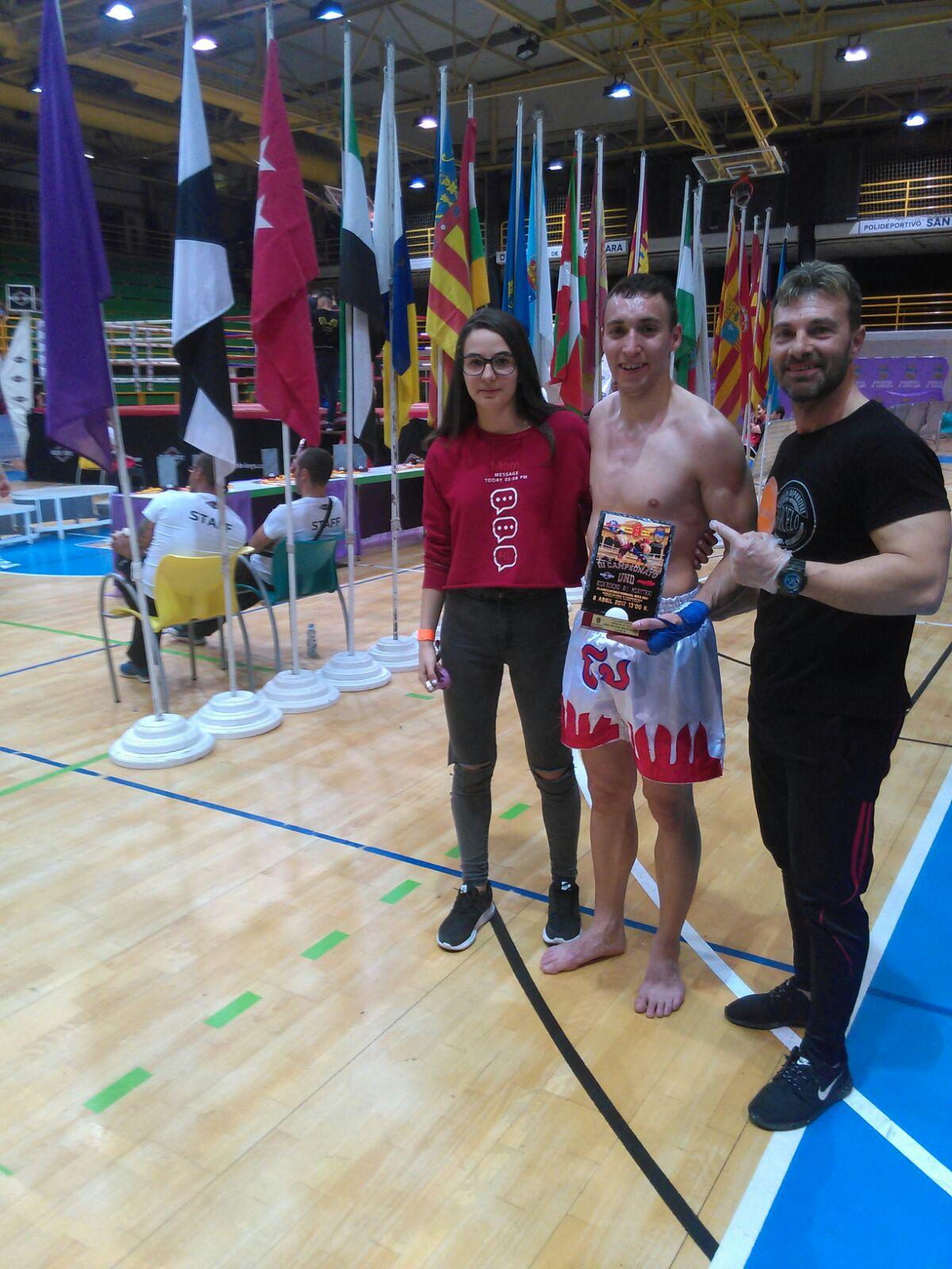 Sergio Diego, Campeón en el Torneo de Selecciones Castilla La Mancha vs Comunidad de Madrid de Kick Boxing y K1