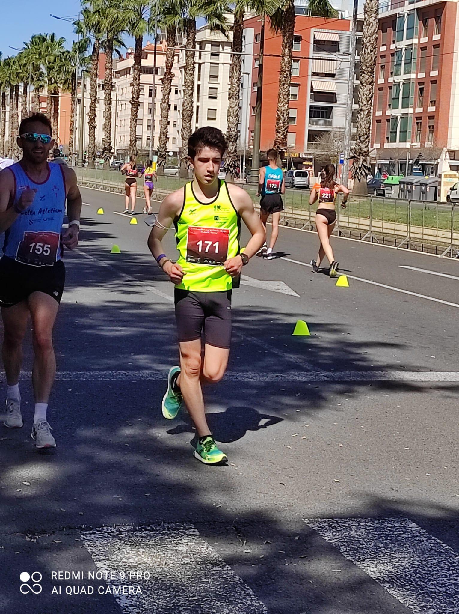 Rodrigo Santa Elena García, se clasifica en décimo lugar de la general en el Criterium Nacional de Marcha