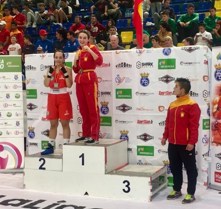 La boxeadora segoviana,  María Chiuda,  Campeona de España